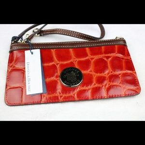 Dooney and Bourke Red Leather Wristlet (NWT)